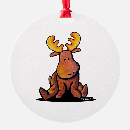 KiniArt Moose Ornament