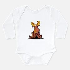 KiniArt Moose Long Sleeve Infant Bodysuit