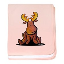 KiniArt Moose baby blanket