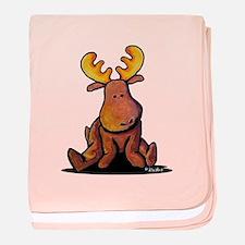 KiniArt Moose baby blanket