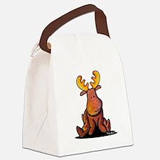 KiniArt Moose Canvas Lunch Bag