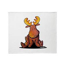 KiniArt Moose Throw Blanket
