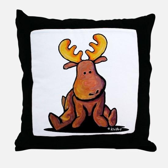 KiniArt Moose Throw Pillow