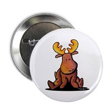 """KiniArt Moose 2.25"""" Button (10 pack)"""