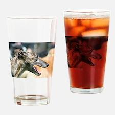 Greyhound Dog Drinking Glass