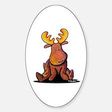 KiniArt Moose Sticker (Oval)