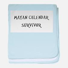 Mayan Calendar Survivor baby blanket