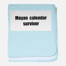Mayan Calendar Survivor (II) baby blanket