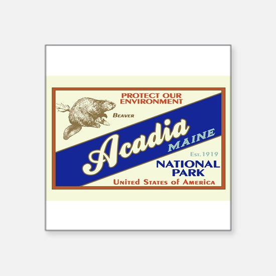 Acadia (Beaver) Rectangle Sticker