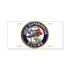 USS Enterprise CVN 65 Aluminum License Plate