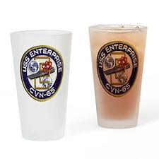 USS Enterprise CVN 65 Drinking Glass