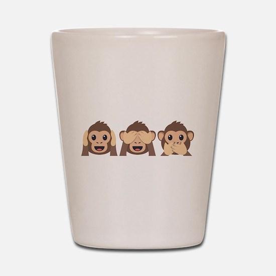 Hear See Speak No Evil Monkey Shot Glass