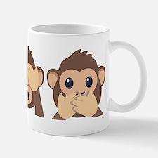Hear See Speak No Evil Monkey Mug