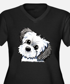 Shih Tzu Sweetie Women's Plus Size V-Neck Dark T-S