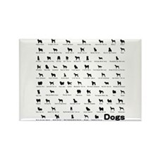 Dogs Name Rectangle Magnet