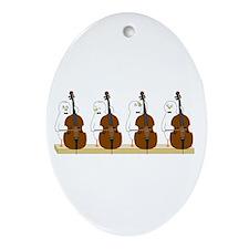 Bass Quartet Ornament (Oval)