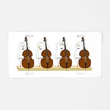 Bass Quartet Aluminum License Plate