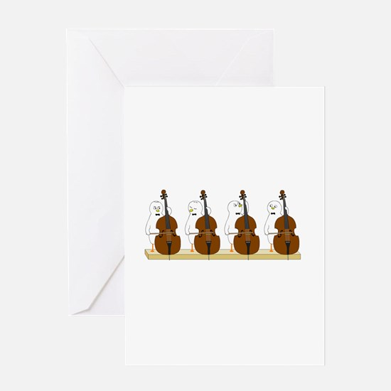 Bass Quartet Greeting Card