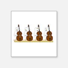 """Bass Quartet Square Sticker 3"""" x 3"""""""