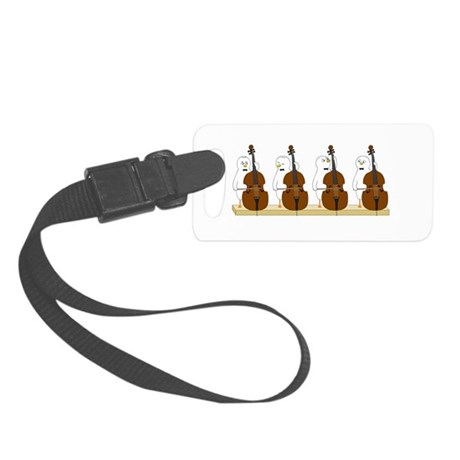 Bass Quartet Small Luggage Tag
