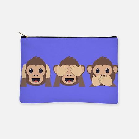 Hear See Speak No Evil Monkey Makeup Bag