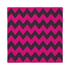 Hot Pink and Black Queen Duvet