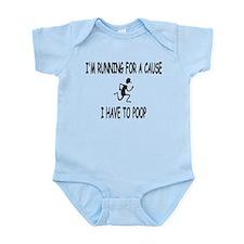 I'm running for a cause, poop! Infant Bodysuit