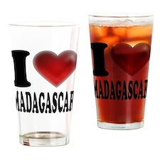 I Heart Madagascar Drinking Glass