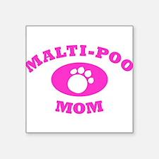 """Maltipoo Mom Square Sticker 3"""" x 3"""""""
