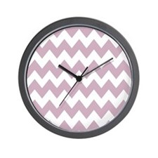 Lilac and White Chevron Wall Clock