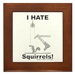 Boot the Squirrel Framed Tile