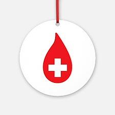 Donate Blood Ornament (Round)