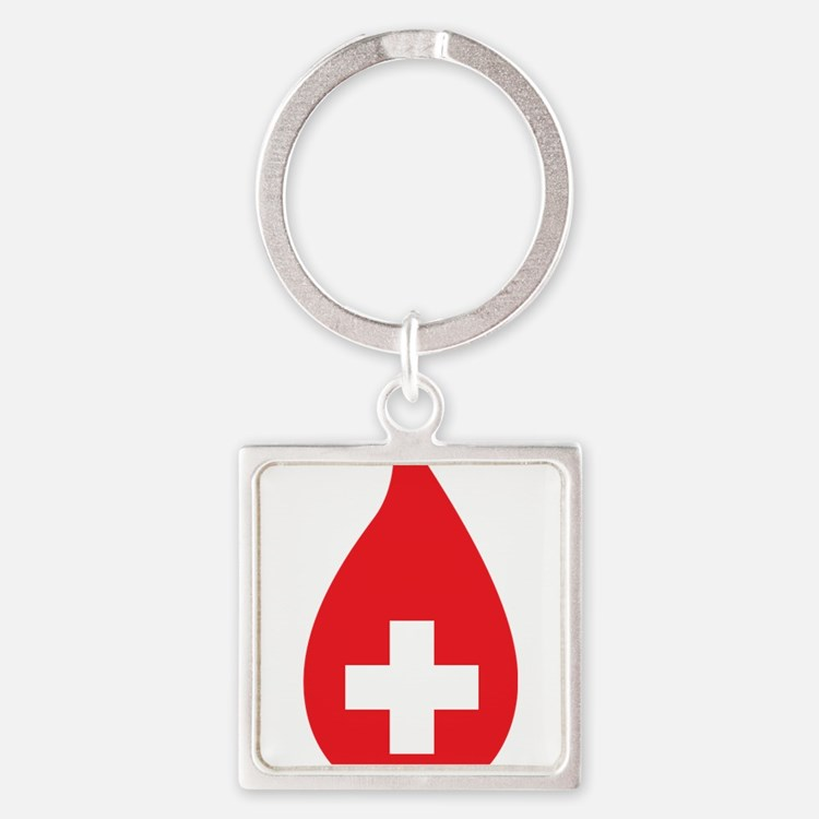 Donate Blood Square Keychain