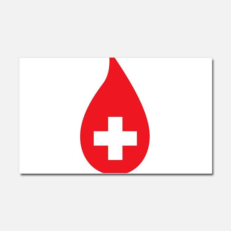 Donate Blood Car Magnet 20 x 12