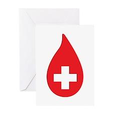 Donate Blood Greeting Card