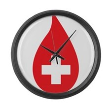 Donate Blood Large Wall Clock