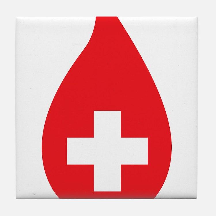 Donate Blood Tile Coaster