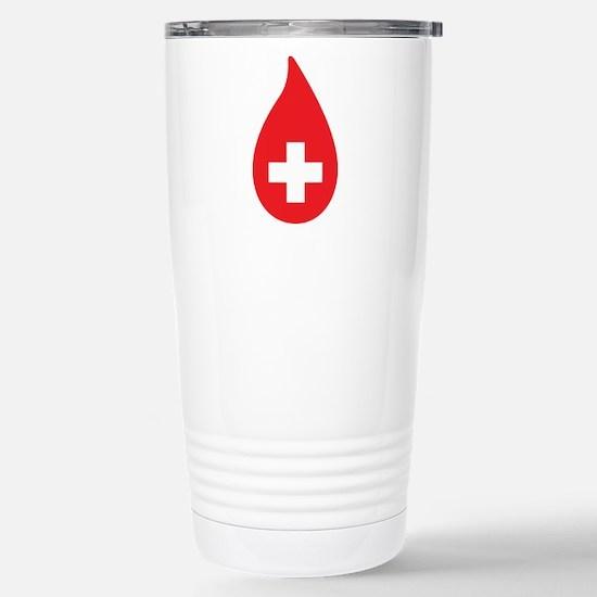 Donate Blood Stainless Steel Travel Mug