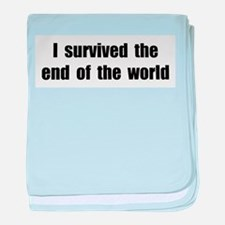 I Survived The End Of The World (II) baby blanket