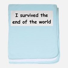 I Survived The End Of The World (III) baby blanket