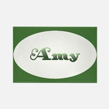 Amy: Green Oval Rectangle Magnet