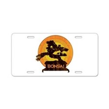 Bonsai Retro Aluminum License Plate