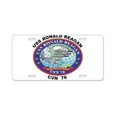 CVN 76 USS Ronald Reagan Aluminum License Plate