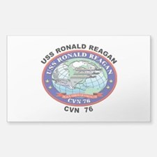CVN 76 USS Ronald Reagan Sticker (Rectangle 10 pk)