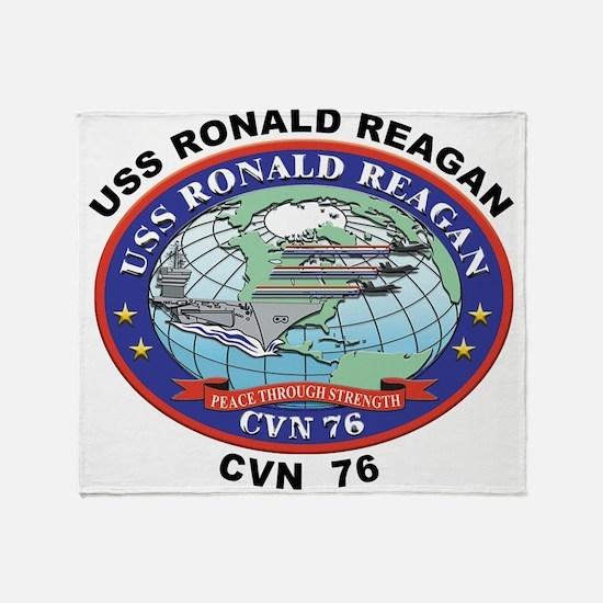 CVN 76 USS Ronald Reagan Throw Blanket