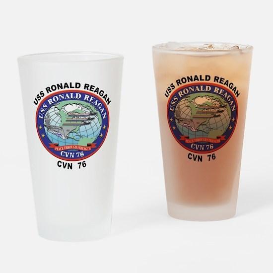 CVN 76 USS Ronald Reagan Drinking Glass