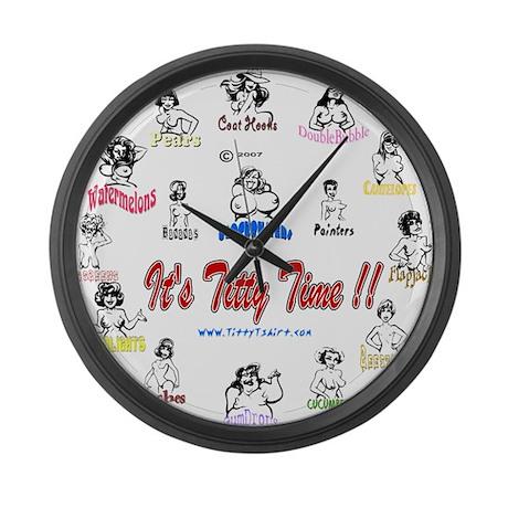 cute adult large wall clock