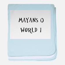 Mayans 0 / World 1 baby blanket