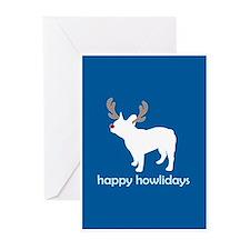 "Fr Bulldog ""Happy Howlidays"" Greeting Cards (Packa"