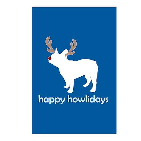 "Fr Bulldog ""Happy Howlidays"" Postcards (Package of"